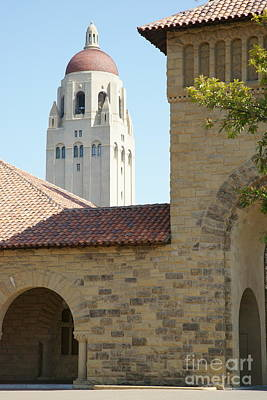 Stanford University Palo Alto California Hoover Tower Dsc641 Print by Wingsdomain Art and Photography