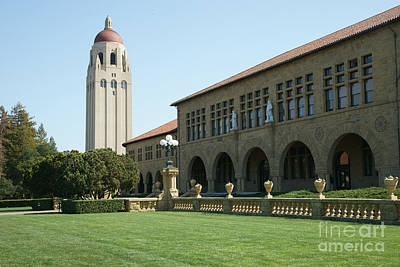 Bayarea Photograph - Stanford University Palo Alto California Hoover Tower Dsc685 by Wingsdomain Art and Photography