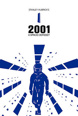 Modern Digital Art Drawing - Stanley Kubrick 2001 A Space Odyssey Movie Poster by Kevin Trow