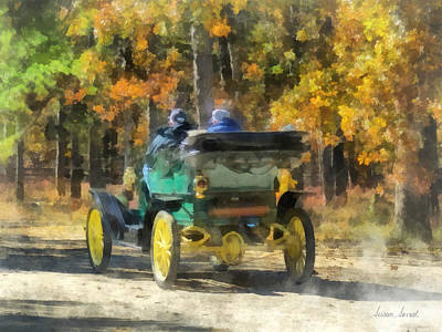 Auto Photograph - Stanley Steamer Automobile by Susan Savad