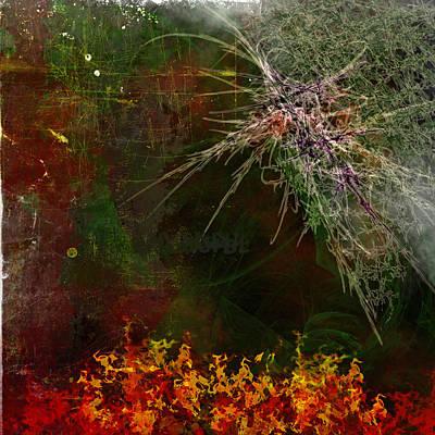 Star Burst Painting - Star Burst by Christopher Gaston