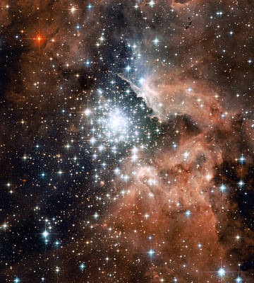 Star Cluster And Nebula Print by Sebastian Musial