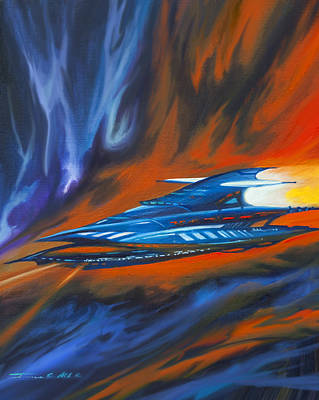 Stellar Painting - Star Cruiser by James Christopher Hill