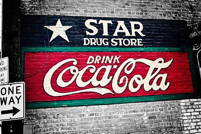 Star Drug Store Wall Sign Print by Scott Pellegrin