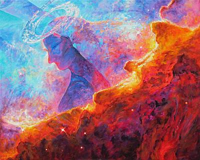 Star Dust Angel Print by Julie Turner