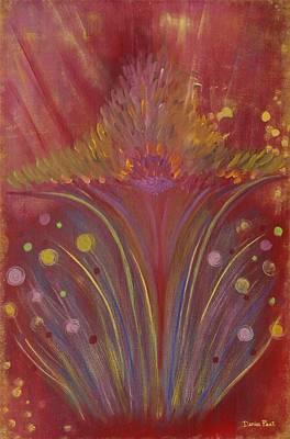 Star Burst Painting - Star Dust by Denise Peat
