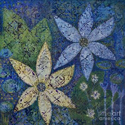Star Flowers Print by Jennifer Grace