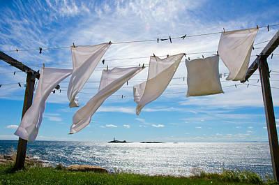 Clothesline Photograph - Star Island Clothesline by Donna Doherty