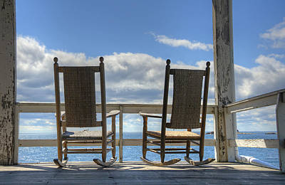 Rocking Chairs Photograph - Star Island Rocking Chairs by Donna Doherty