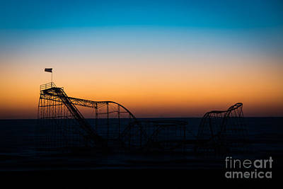 Star Jet Roller Coaster Silhouette  Original by Michael Ver Sprill
