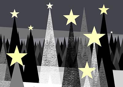 Star Light - Star Bright Print by Val Arie