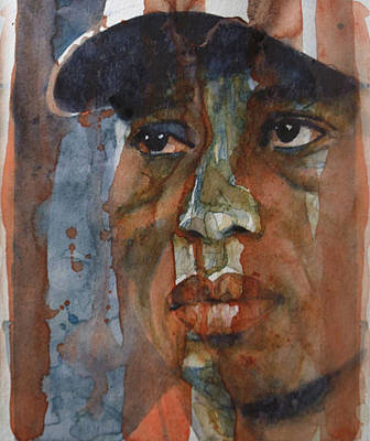Tiger Woods Painting - Star N Stripes  by Paul Lovering