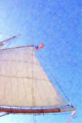 Star Of India. Flag And Sail Print by Ben and Raisa Gertsberg