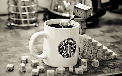 Starbucks Coffee Photograph - Star Of The Bucks by Gianfranco Weiss