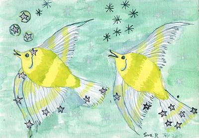 Star Sign Pisces Original by Sushila Burgess