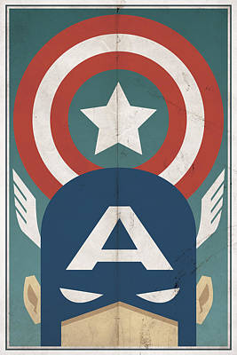 Vintage Digital Art - Star-spangled Avenger by Michael Myers
