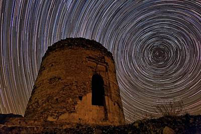 Star Trails Over Alborz Mountains Print by Babak Tafreshi