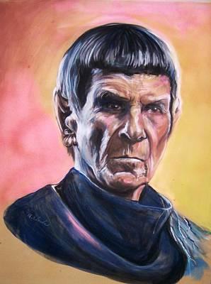 Star Trek Old Spock  Original by Martha Suhocke