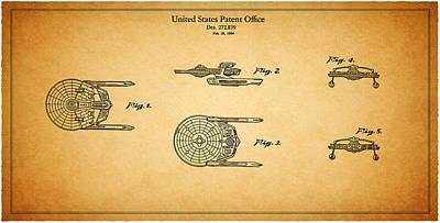 Star Trek - Spaceship Patent 1984 Print by Mark Rogan