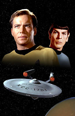 Tag Digital Art - Star Trek - The Original Series by Paul Tagliamonte