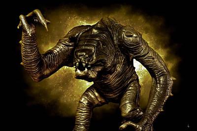 Monster Digital Art - Star Wars Rancor Monster by Nicholas  Grunas
