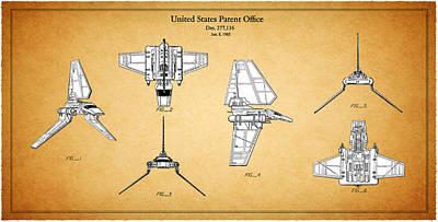 R2d2 Photograph - Star Wars - Shuttle Patent by Mark Rogan