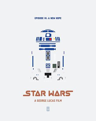R2d2 Digital Art - Star Wars by Smile In The  Mind