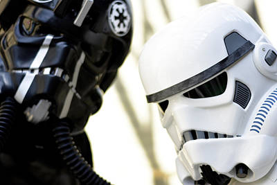 Amusements Mixed Media - Star Wars Stormtrooper Closeup by Toppart Sweden