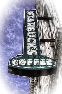 Starbucks - Ballard Print by Spencer McDonald