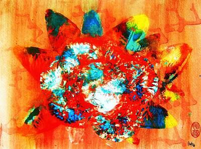 Star Burst Painting - Starburst Nebula by Roberto Prusso