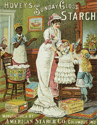 1880s Painting - Starch Trade Card, C1880 by Granger