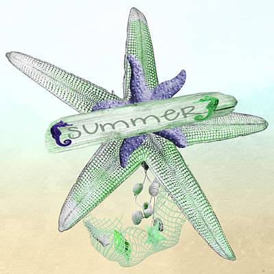 Starfish Print by Debra  Miller