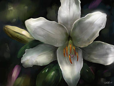 Lilies Mixed Media - Stargazer by Steve Goad