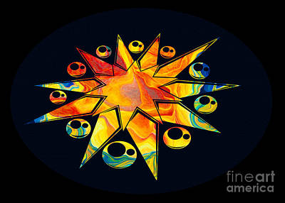 Staring Into Eternity Abstract Stars And Circles Print by Omaste Witkowski