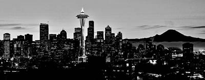 Stark Seattle Skyline Print by Benjamin Yeager