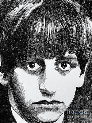 Ringo Starr Drawing - Starr by Robbi  Musser