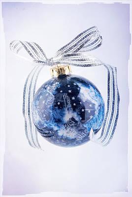 Decoupage Photograph - Christmas Ornament With Stars by Vizual Studio
