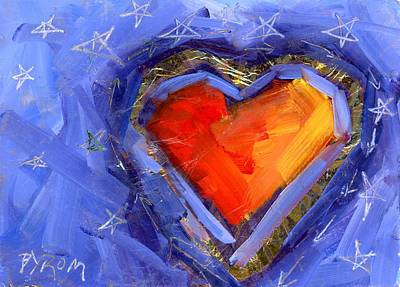 Painting - Starry Love by Mary Byrom