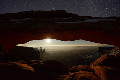 Night Photograph - Starry Mesa Arch by Dustin  LeFevre