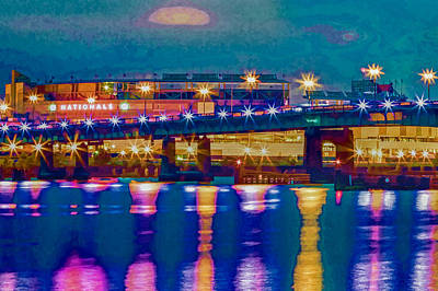 Starry Night At Nationals Park Print by Jerry Gammon