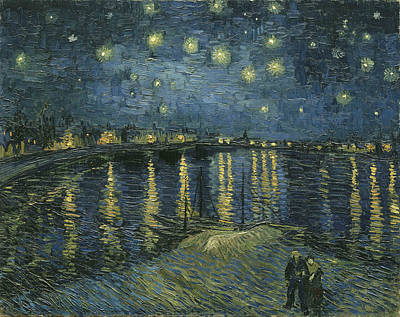 Starry Night Over The Rhone Print by Georgia Fowler