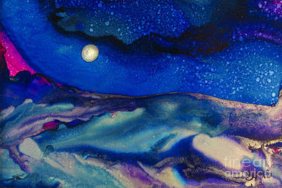 Silver Background Painting - Starry Night by Susan Swain