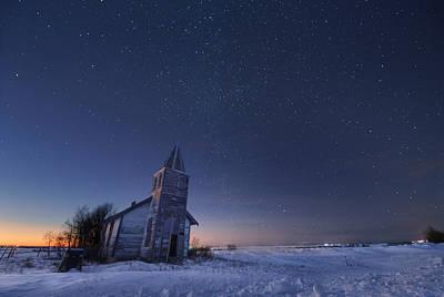 Canada Photograph - Starry Winter Night by Dan Jurak