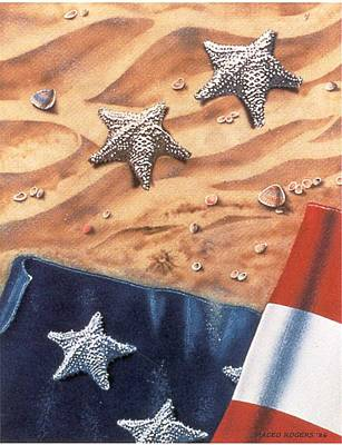 Star Spangled Banner Mixed Media - Stars II by Maceo Rogers