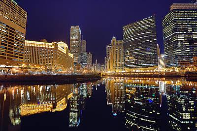 Stars Over Chicago Print by Nicholas Johnson