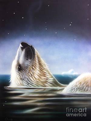 Iceberg Painting - Starshine by Sandi Baker