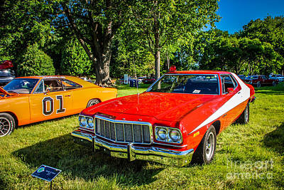 Dukes Of Hazard Show Photograph - Starsky And Hutch Ford Gran Torino by Grace Grogan