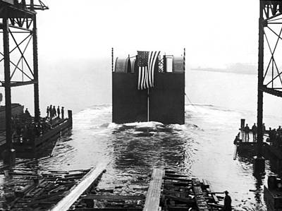 Staten Island Photograph - Start Of The Holland Tunnel by Underwood Archives