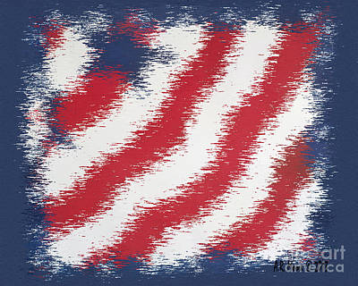 Star Spangled Banner Mixed Media - Starz And Stripez by Anderson R Moore