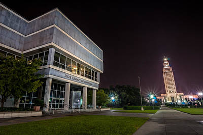 Hdr Photograph - State Library Of Louisiana by Andy Crawford